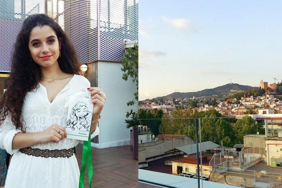 Caricaturas fiesta Inauguración terraza Granada