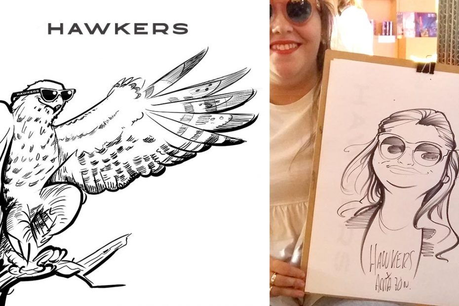 Caricaturas Evento Hawkers