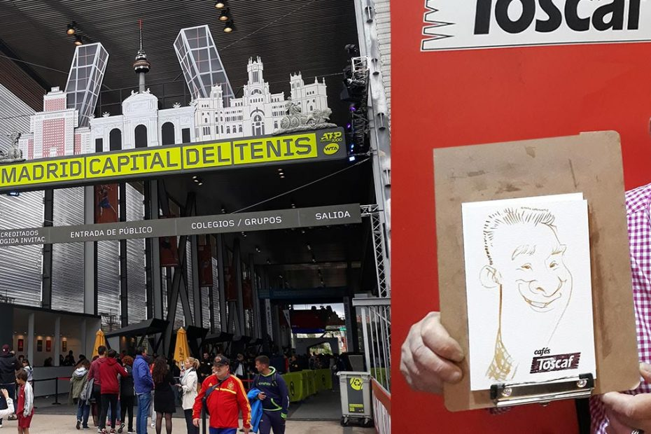 Caricaturas con café Mutua Madrid Open