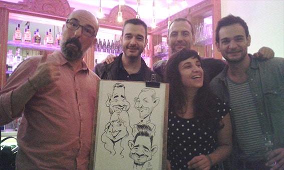 Caricaturas en Barcelona para Fiesta 9